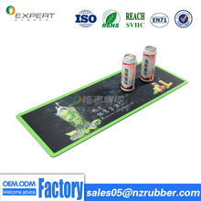 2017 Anti Slip Personalized Drink Beer Rubber Counter Bar Mat