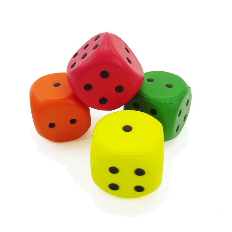 Eco-Friendly 2.3 inch multi-colour foam dice set toy for baby