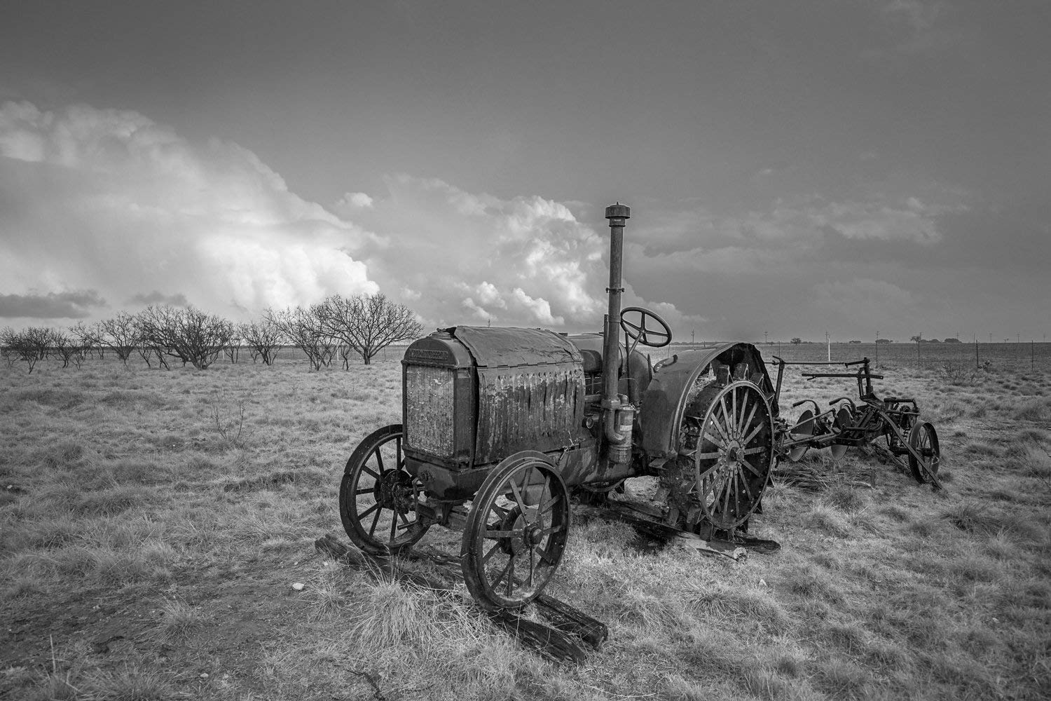 Get Quotations · Tractor Photography Wall Art Print - Picture of Rustic  McCormick-Deering Tractor in Southern Texas