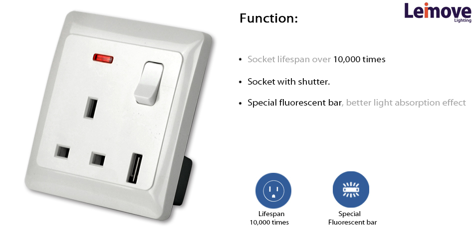 China supplier Press Fit NANO Power electrical power socket