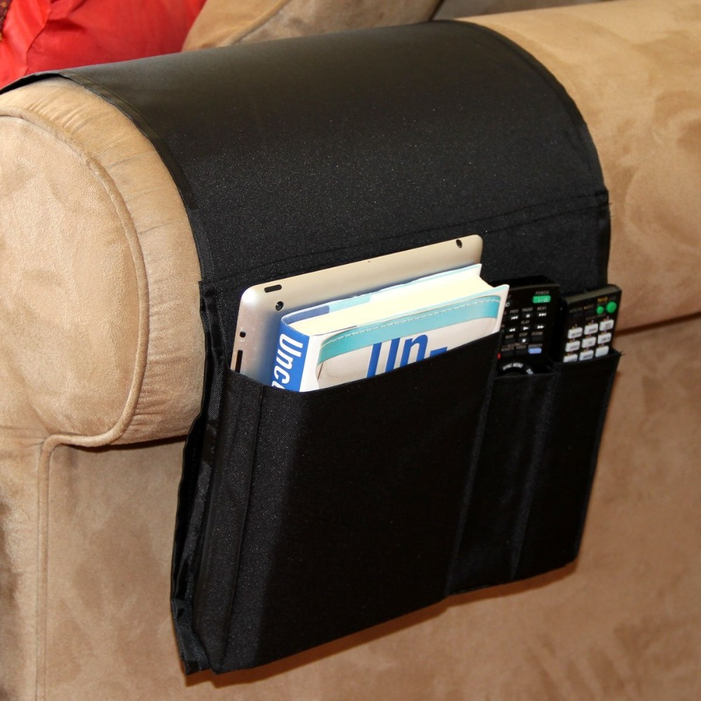 Sofa Couch Chair Armrest Caddy Pocket Organizer Great For