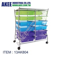 Office hair salon plastic drawer storage rolling trolley cart