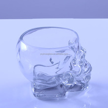 Transparent Hot sale skull shot glass cup with high quality wine glass