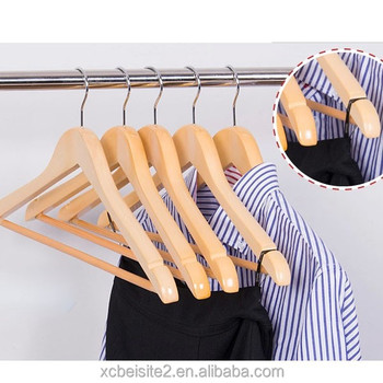 m391 Wholesale household popular wholesale wooden clothes hanger