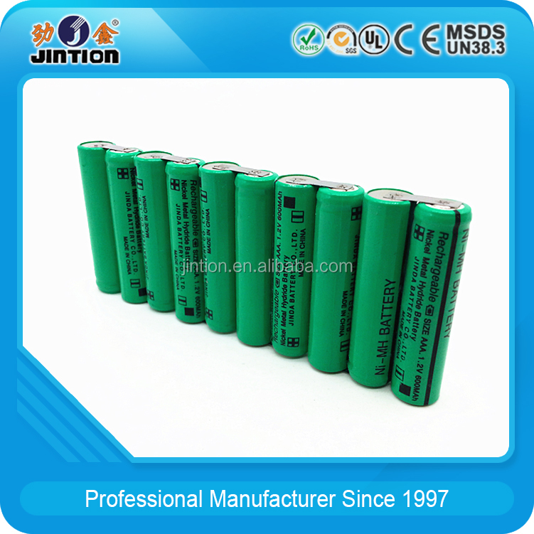 Customize 12v Rechargeable battery pack Ni-Mh AAA 600mAh