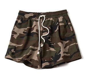 70% Polyester 30% Cotton French Terry Street Sexy Style Camouflage Yoga Gym Surf Training Sports Unisex Shorts