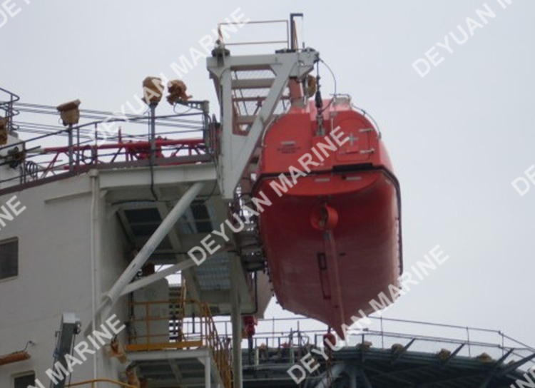 7.5m Totally Enclosed Lifeboat Used Platform Offshore Davit