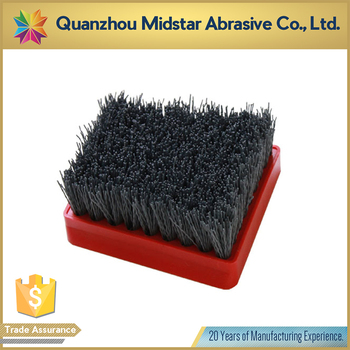 silicon carbide abrasive polishing brush for marble