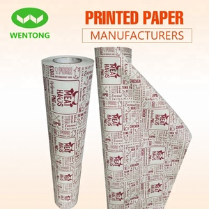 80cmx200m MeatHaus 2018 eco-friendly 45gsm printed newsprint butcher paper roll in Australia supermarket