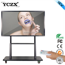 YCZX Infrared touch interactive display 65inch LED touch screen monitor for education & office