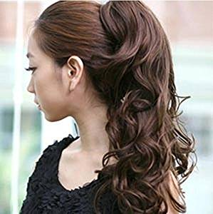 Smile Ponytails Synthetic Pony Tail Lady Clip On Hair Extension Multicolors Women Extensions
