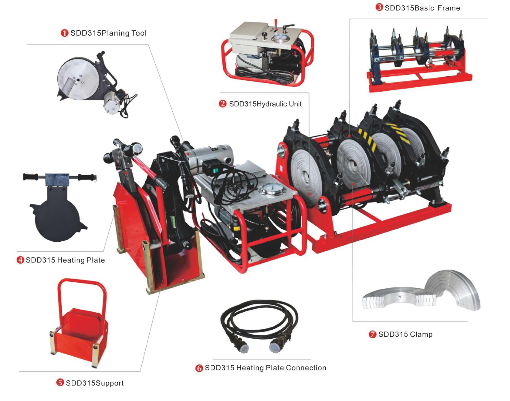 Hydraulic 4 Clamps Hdpe Butt Pipe Fusion Welder Electrofusion Welding Diagram Suitable For Of Plastic Pipes And Or Fittings Made Peppr Pband Pvdf In Worksite Workshop