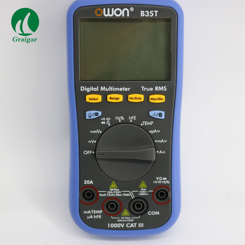 B35T OWON DM Series Digital Multimeter function as 3 in 1,multi-connection supported via mobile app,larger display