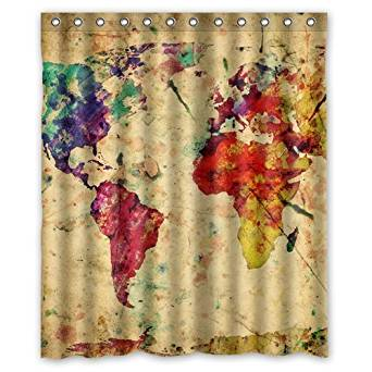 Cheap Map Shower Curtain Fabric, find Map Shower Curtain ...