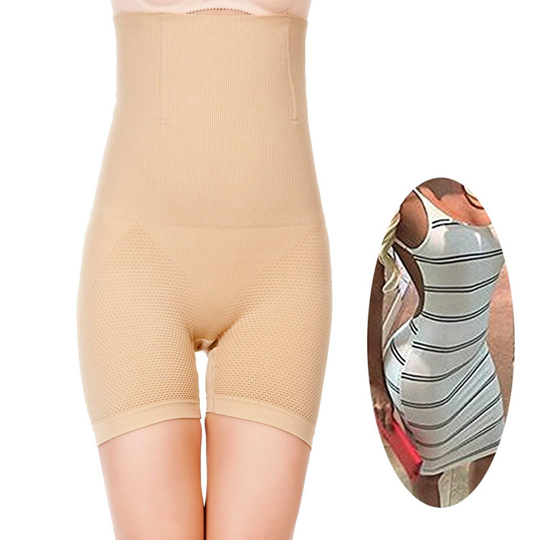 fa6109789 Get Quotations · FUT Women High Waist Cincher Girdle Belly Slimmer Trainer  Black Shapewear Butt Lifter