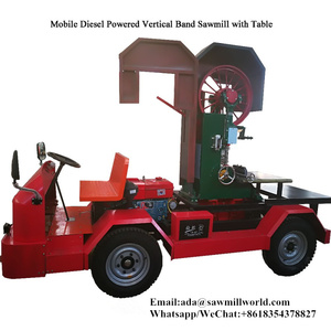 mobile type diesel portable sawmill wood cutting machinery