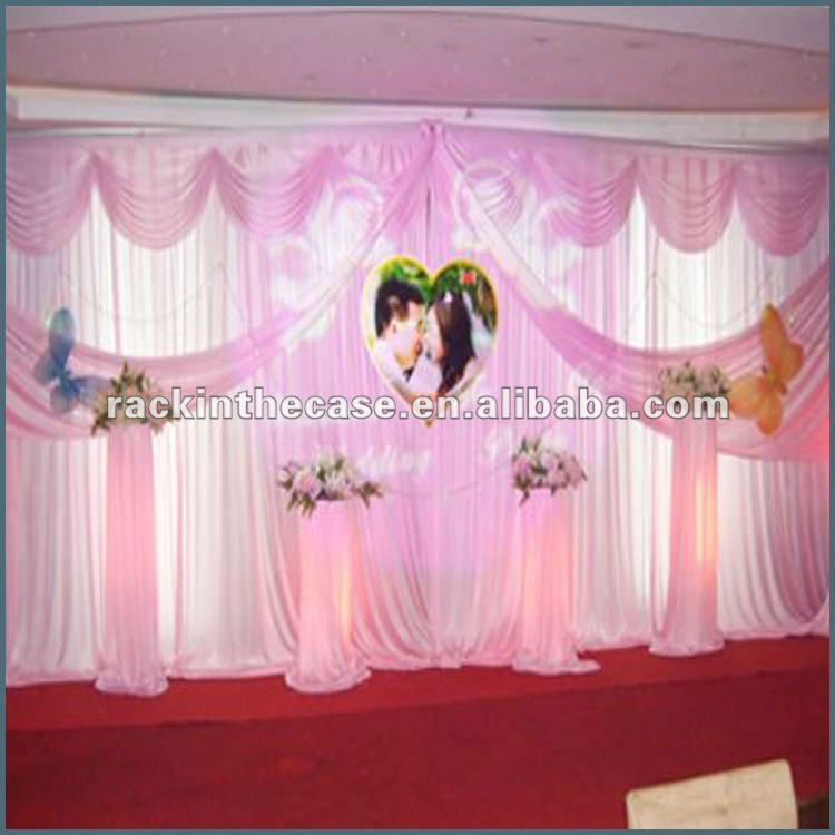 2012 Rk Wedding Hall Decoration With White Background Curtain ...