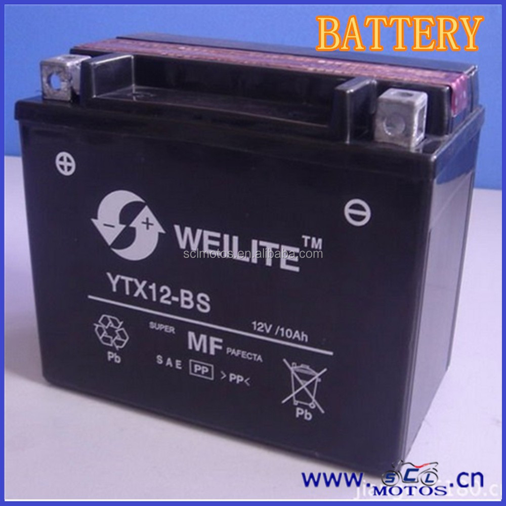 SCL-2012122283 Motorcycle 12V Lead Acid Dry Recharge Battery