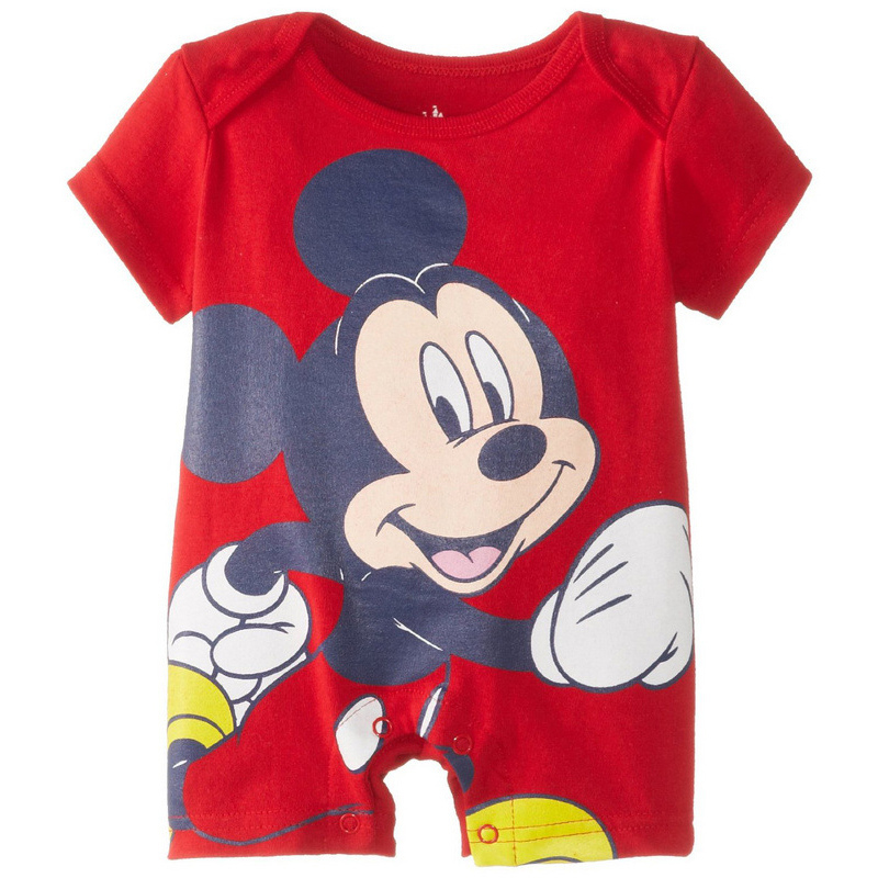 Summer Style 2015 Newborn Baby Clothes Rompers Girl/boy Mickey New Born Baby Clothes Baby Romper Short Sleeve One-Piece Jumpsuit