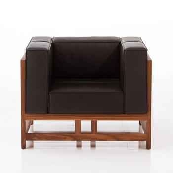 Exceptionnel Solid Wood Frame New Design Furniture Living Room Sofa One Seat Leather Sofa