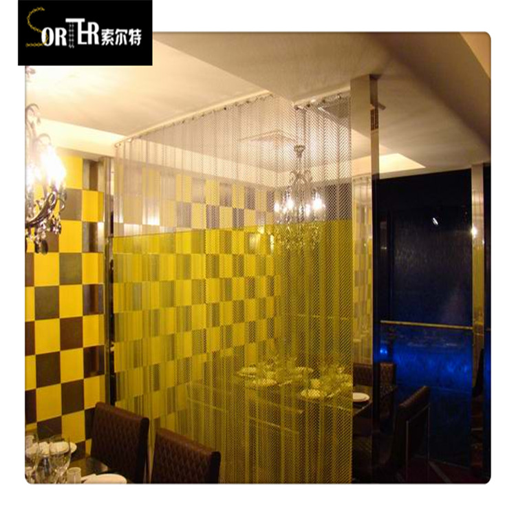 Flexible metal mesh room divider metal mesh facade drapery metal curtain