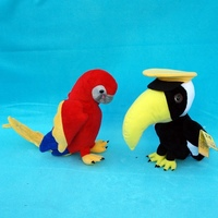 Animal stuffed toy parrot birds for kids
