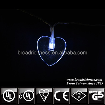 Battery Operated Led Heart Shaped Fairy Lights Hot In Usa Canada Europe