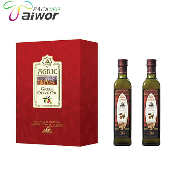 Private Label Christmas Packaging Box Olive Oil Bottle Hard Cardboard Box