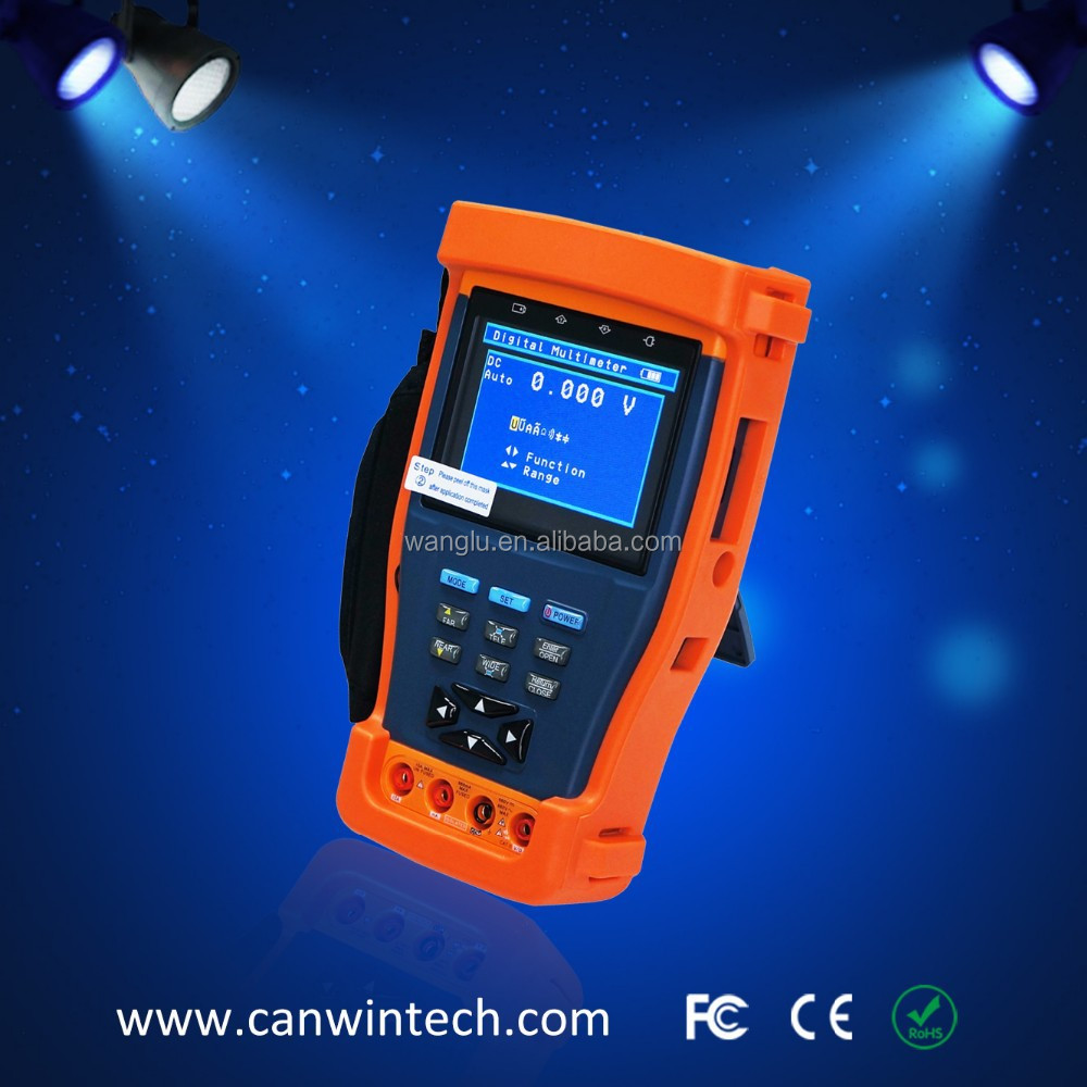 3.5 inch CCTV camera Tester with PTZ and optical power meter