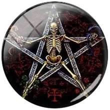 JWEIJIAO пентаграмма шаблон стеклянный кабошон купол фотографии DIY круглые драгоценные камни подвески для брелока ожерелье серьги аксессуары(Китай)