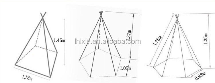 Pentagon Shape Indian Tent Canvas Kids Tipi Tent for Children  sc 1 st  Alibaba & Pentagon Shape Indian Tent Canvas Kids Tipi Tent For Children ...