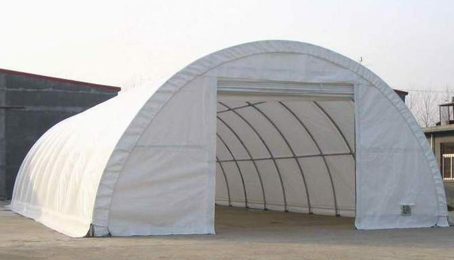 Round Roof Steel Frame Portable Garage View Portable