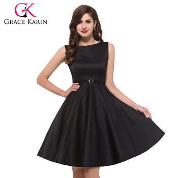 Dropshipping Service Grace Karin Knee Length Black Sleeveless 50s Retro  Vintage Cotton Plus Size Dress For Fat Women - Buy Plus Size Cotton Dress  For ...