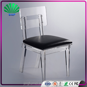 Italian Dining Room Dinner Chair Furniture with Clear Acrylic Chair Legs