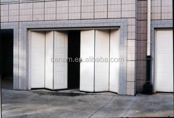Automatic workshop folding garage door