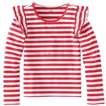 7f7b5438a651e7 2015 Latest Design Ruffle Long Sleeve Casual Check Shirts For Girls ...