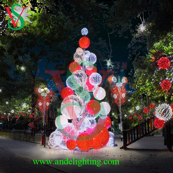 christmas tree 3d tree ball lights 3d deco large outdoor christmas balls light - Outdoor Christmas Balls