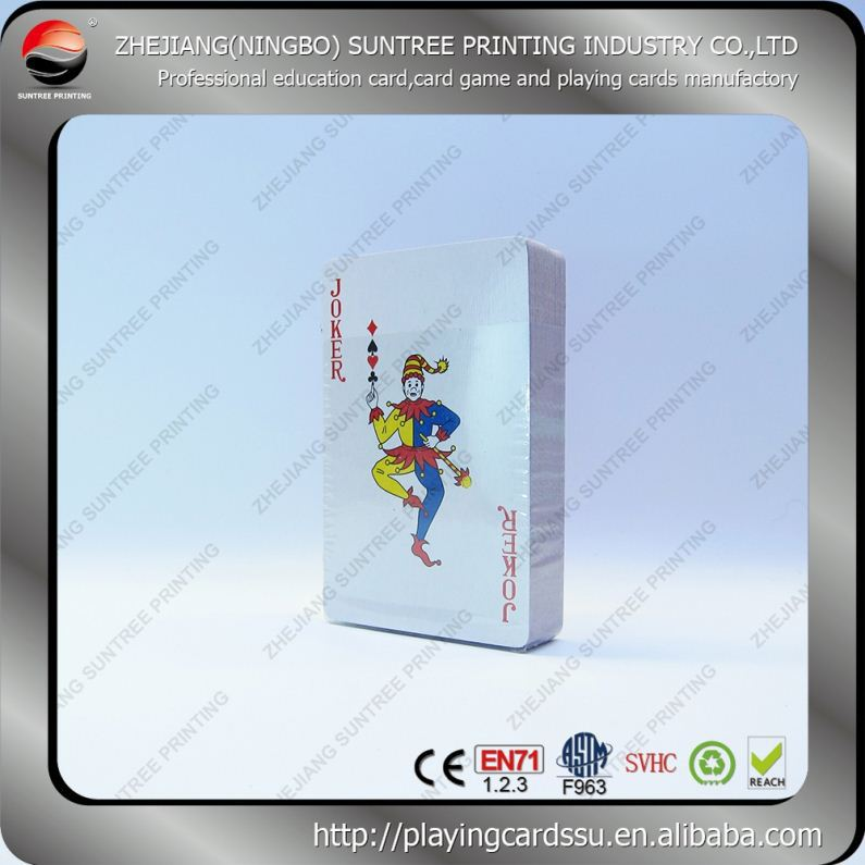 Playing cards manufacturer Suntree Printing Nap Custom Plastic Poker Sized Cards