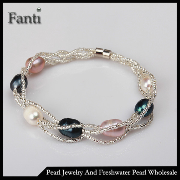 Freshwater pearl bracelet cheap bulk wholesale
