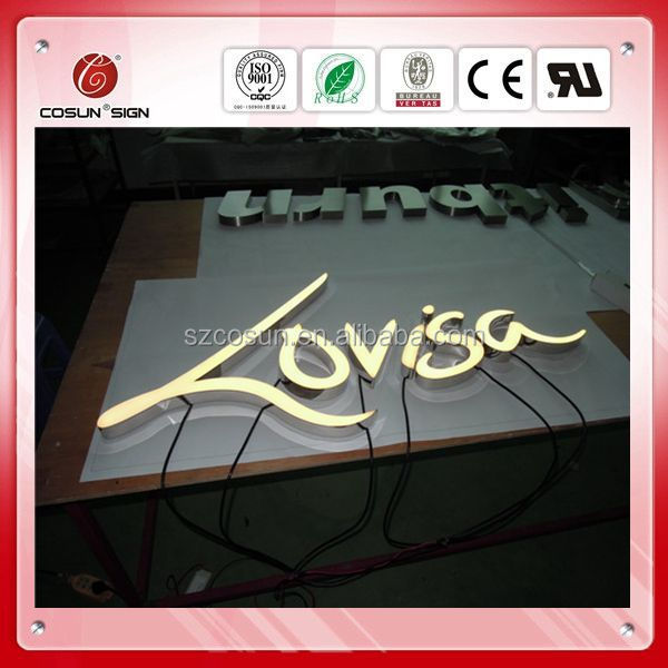 shop used illuminated resin channel letters