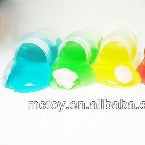 Factory supplier Transparent Bottle slime with organ Crystal slime toys