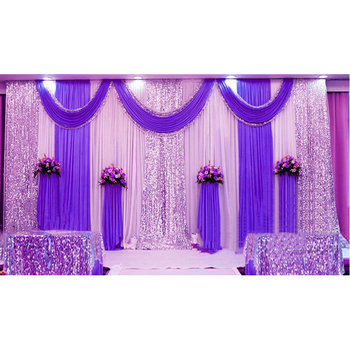Glittering Indian Wedding Mehndi Stage Backdrop Sequin Backdrop Curtains -  Buy Indian Wedding Mehndi Stage Backdrop,Glittering Stage Curtains,Sequin
