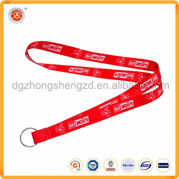 Fashion Custom Polyester Key Holder Neck Lanyard No Minimum