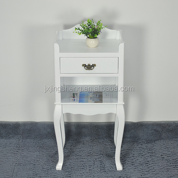 French Country Style Modern Drawer Nightstand White Bedside Table With Shelf For Ebay Online
