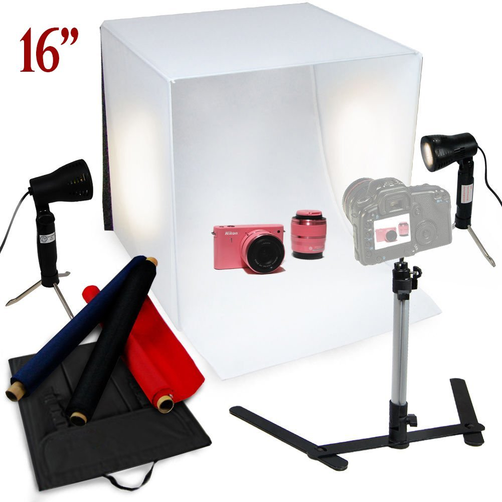 16x16 Photo Tent with background cloth for Table Top Photography Studio Light Tent Kit TRUMAGINE 40x40cm 16 inch