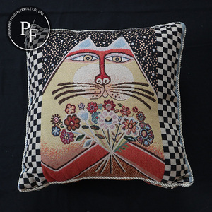 custom jacquard embroidery pillow case wholesale