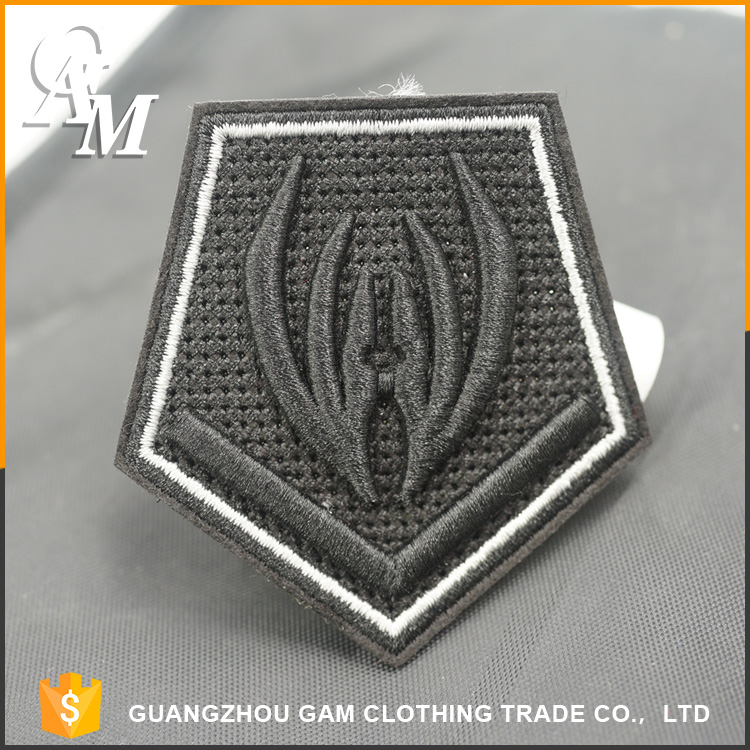 wholesale custom 3d embroidered logo neck clothing iron patch and embroidery patch