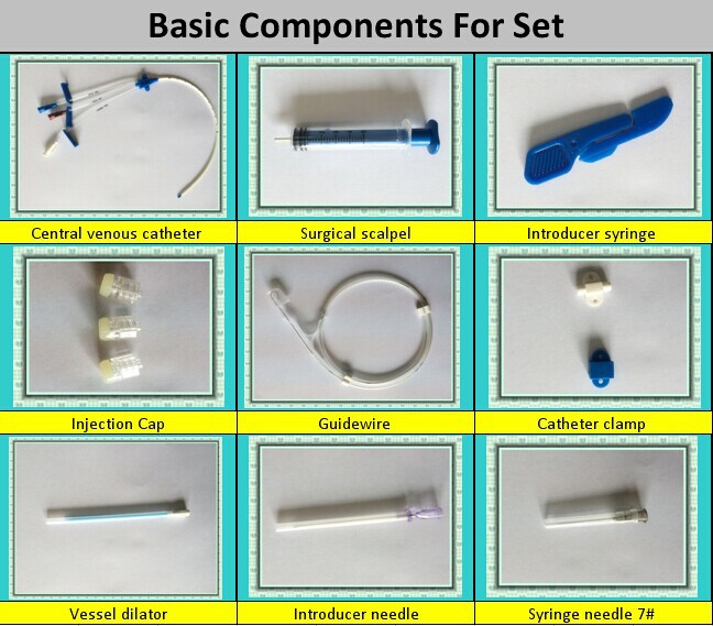 Basic Components Of Central Venous Catheter /cvc Catheter Kits ...