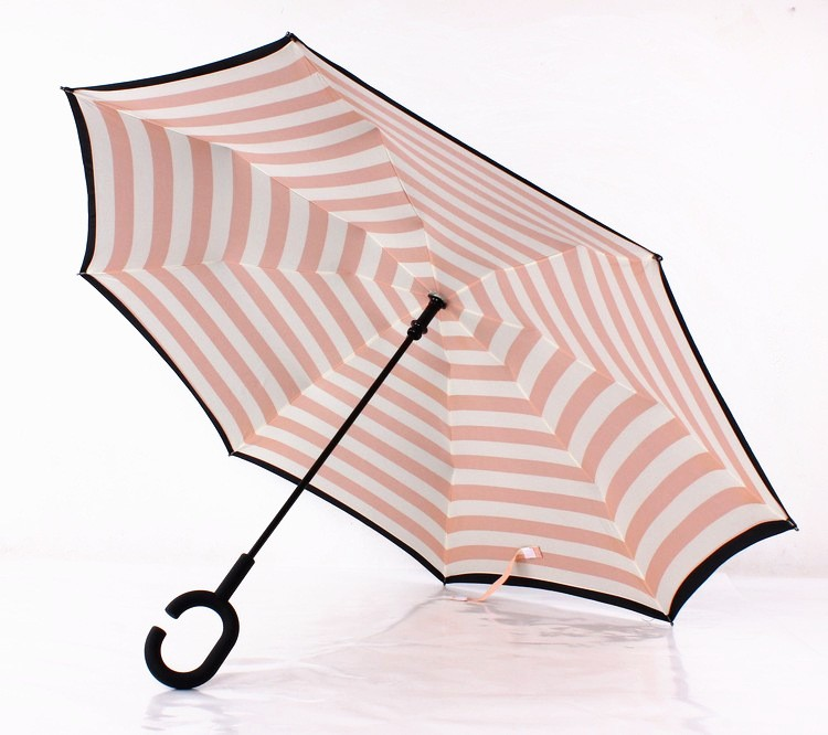 Navy Stripe Inverted Umbrellas C-shape J-shape Handle Waterproof Double  Layer Reverse Car Umbrella Paraguas Rain Umbrella - us613 542f1c1b2d49