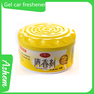 Hot selling gel car perfume with logo printing IC-818